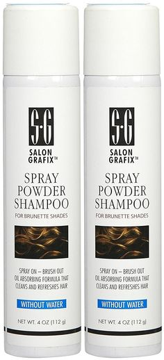 Salon Grafix Spray Powder Shampoo, Brunette - 4 oz - 2 pk -- Check out the image by visiting the link. Hair Shampoo, Dry Shampoo, Hair Inspiration, Salons, Hair Care, Powder, Cleaning, Image Link, Handle