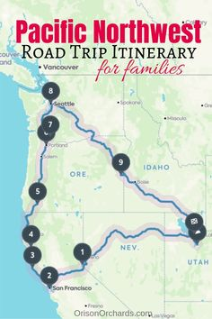 Looking for a Pacific Northwest road trip itinerary? You came to the right place. - Looking for a Pacific Northwest road trip itinerary? You came to the right place… - Rv Travel, Travel Maps, Places To Travel, Budget Travel, Travel Ideas, Travel Destinations, Texas Travel, Travel Gadgets, Vacation Places