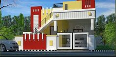 home exteriors Beautiful House Plans, Modern House Plans, Modern House Design, House Front Wall Design, Single Floor House Design, 30x40 House Plans, Bedroom House Plans, House Elevation, Front Elevation Designs
