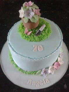 Gardening Theme Cake For A Ladies Birthday Gardening theme cake for a ladies birthday Garden Theme Cake, Garden Cakes, 70th Birthday Cake, Cakes For Women, Themed Cakes, Cake Art, Lady, Cake Ideas, Floral