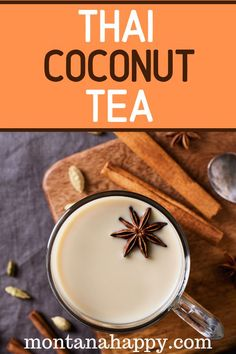 How to Make Thai Coconut Tea - try this delicious recipe that will make your taste buds sing. Super easy to make. How to Make Thai Coconut Tea - try this delicious recipe that will make your taste buds sing. Super easy to make. Easy Drink Recipes, Fudge Recipes, Tea Recipes, Coffee Recipes, Yummy Drinks, Healthy Drinks, Dessert Recipes, Yummy Food, Refreshing Drinks