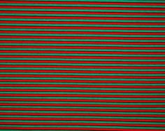 Red and Green 1/8 Inch Stripes Cotton Lycra Knit Jersey Fabric