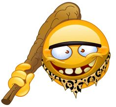Neanderthal emoticon vector image on VectorStock Smileys, Angry Emoji, Smiley Emoji, Animated Emoticons, Funny Emoticons, Emoji Love, Cute Emoji, Wallpaper Emoticon, Animiertes Gif