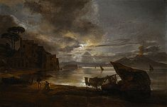 Johan Christian Dahl (1788–1857): By of Naples by Moonlight, 1821