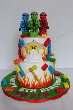 Celebrate with Cake!: Lego Ninjago 2 tier