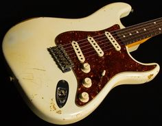 """Dealer Select Wildwood """"10"""" '61 Strat Faded Olympic white with tortoiseshell"""
