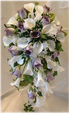 cascading bouquet silk flowers wedding flowers - Page 75 of 101 - Wedding Flowers & Bouquet Ideas Cascading Wedding Bouquets, Cascade Bouquet, Diy Wedding Flowers, Bride Bouquets, Bridal Flowers, Flower Bouquet Wedding, Floral Bouquets, Floral Wedding, Silk Flowers