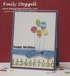 Patterned Party Balloon Birthday Card