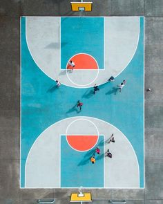 SkyPixel's jaw-dropping drone photos of the year: Basketball court in Auckland, New Zealand. This drone shot claimed first prize in the Professional's Portrait...