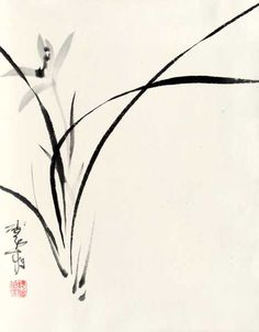 chinese painting sumi brush easy japanese orchid asian korean nice orchids china very simple flowers hard calligraphy janzaremba artwork ink