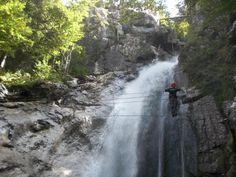 Via ferrata - Les Alpes du Léman - Cascade - Haute-Savoie - France www.alpesduleman.com
