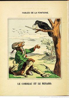 Fables de La Fontaine - Images d'Épinal - Le Corbeau et le Renard - BnF