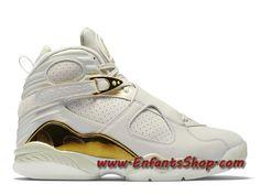 san francisco 80ec7 53b4f Air Jordan 8 Retro Championship Trophy Chaussures Nike Basket Pas Cher Pour  Homme Blanc Or 832821