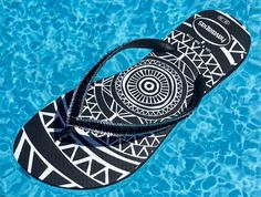 63e7230db060 Jet Black Flip Flops Custom Tribal Medallion Havaianas Slim w  Swarovski  Bling Crystal Glass Slippers Rhinestone Sandals Beach Wedding Shoes