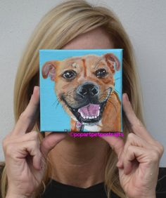 Anew family member, want to see??? Custom dog paintings by PopArtPetPortraits, $70.00