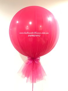 """Beautiful 3 foot hot pink tulle balloons for a birthday yesterday"" Tulle Balloons, Jumbo Balloons, Giant Balloons, Pink Tulle, Cbr, Hot Pink, Birthday, Pictures, Beautiful"