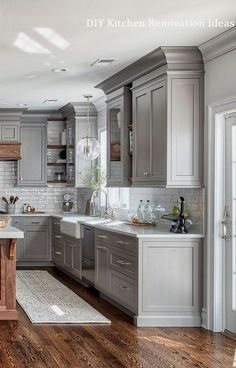 Home Renovation Costs Kitchen renovation cost with a budget split up plus how much you should spend on your kitchen renovation as a % of the value of your home and each element. Refacing Kitchen Cabinets, Farmhouse Kitchen Cabinets, Modern Farmhouse Kitchens, Kitchen Cabinet Design, Kitchen Redo, Home Decor Kitchen, Home Kitchens, Kitchen Ideas, Kitchen Furniture