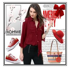 """Romwe"" by loveliest-back ❤ liked on Polyvore featuring Converse, Rosetti and Scala"