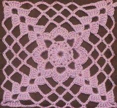 Anabelia craft design: New crochet square motif and a new crochet project Crochet Blocks, Granny Square Crochet Pattern, Crochet Squares, Crochet Motif, Crochet Doilies, Crochet Flowers, Crochet Symbols, Crochet Stitches Patterns, Thread Crochet