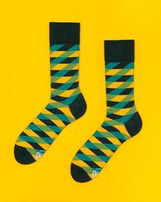Illusion Green Socks  mens socks  womens socks  by ManyMornings