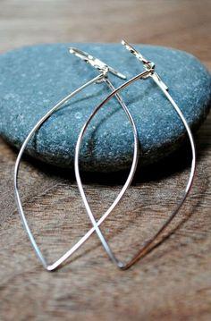 Leaf Dangle Earrings - Sterling Silver - 14K Gold