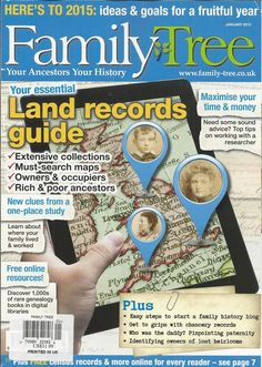 Family Tree magazine Land records guide Maps Rich and poor ancestors Blogging