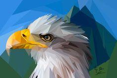 Dibujo digital de águila, realizado con Photoshop