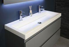 Ink Dock wastafel 80x40 cm   badkamer   bathroom   dubble sink   bewonen.nl