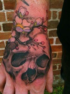 Jeff Gogue - Skull & Cherry Blossoms