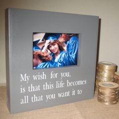 Wedding Present Box Elder Lyrics : ... box sign Picture Frame Lyrics sign Graduation Gift Wedding Gift Shower