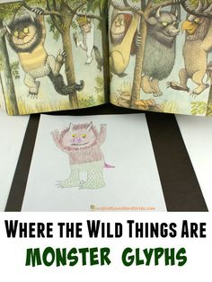 Where the Wild Things Are is being featured by The Virtual Book Club for Kids. Inspired by all of the wild things in the story, we created monster glyphs.