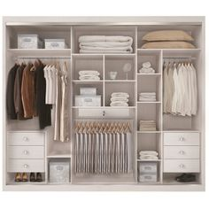 Roupeiro                                                                                                                                                                                 Mais Wardrobe Design Bedroom, Wardrobe Closet, Closet Bedroom, Closet Space, Bedroom Decor, Closet Interior, Wardrobe Organisation, Closet Layout, Bedroom Cupboards