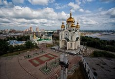 Magnificent Orthodox Cathedrals in Russia photos) Amur River, The Transfiguration, Places To See, Taj Mahal, Cathedral, Russia, Building, Third, Christ