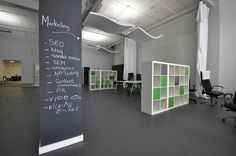 Our office is about open spaces, and lends itself to inspiration on any wall.