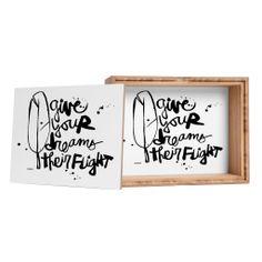 Kal Barteski Give Your Dreams Jewelry Box | DENY Designs Home Accessories #dreams #flight #newyear #resolution #home #decor #bath #bathroom #bedroom