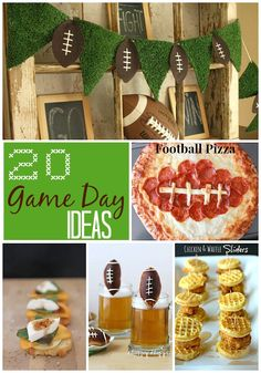 Great Ideas -- 20 Game Day Ideas!! -- Tatertots and Jello