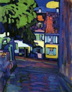 Houses in Murnau, 1908 / Kandinsky