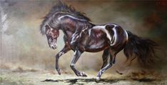 Original North Korea Oil Painting horse Size x X cm No frame Materials Used Oil Painting On Canvas by li jun ge First class Merit Artist White tiger art creation Tiger Art, North Korea, Animal Paintings, Oil Painting On Canvas, Horses, The Originals, Artist, Animals, Collection