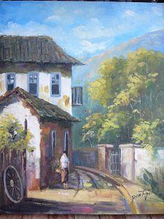 oleo sob tela 40 x 50  my painting postigo