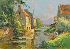 A-Little-River-In-Normandie by Edouard Cortes
