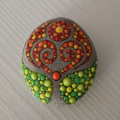 Tree of Life Dot Art Painted stone painted rock Fairy garden