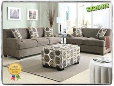 Sofa Set Loveseat Living Room Furniture Couch Seat Love Side Modern Faux Linen - n/a - Skrootz Home Stores - 7