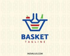 Elite Logo Maker Creative logo in the shape of a basket combined with a vegetable and a bottle, the colors used are Affordable Furniture Stores, Wholesale Furniture, Cheap Furniture, Rustic Furniture, Furniture Nyc, Bingo, Supermarket Logo, Red Basket, Small Bedroom Furniture