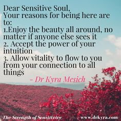The Strength of Sensitivity! Author Dr Kyra Mesich is the creator of Empathic Empowerment Psychology. Join us in the Sensitive Revolution! Sensitivity, Thought Provoking, Intuition, Philosophy, The Creator, Psychology, Literature, Strength, Mindfulness