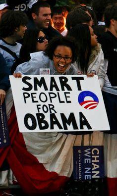 "Obama 2012 ""Smart people for Obama"" Vice presidential debate, Washington University St. Louis 2008."