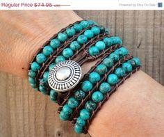 CIJ Sale Leather wrap bracelet beaded leather by WrappedInLeather, $59.96
