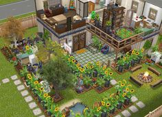 Sims Freeplay Houses, Sims Free Play, Apartment Floor Plans, Sims Ideas, Sims 4 Build, Sims House, Pc Games, My Sims, House Layouts