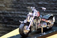 Classic Harley Davidson chopper motorbike motorcycles miniature Handmade from spoon and fork.  #harley #davidson #harleydavidson #handmade #handicraft #motorcycle #motorbike #chopper #miniature #figurine @eBay