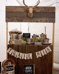 "Trail Mix Stand from a ""Wild One"" Bohemian Birthday Party on Kara's Party Ideas 
