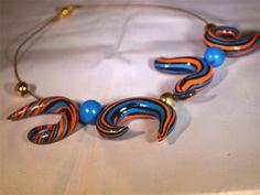 Orange and blue pods | Carol Dobson Design | madeit.com.au